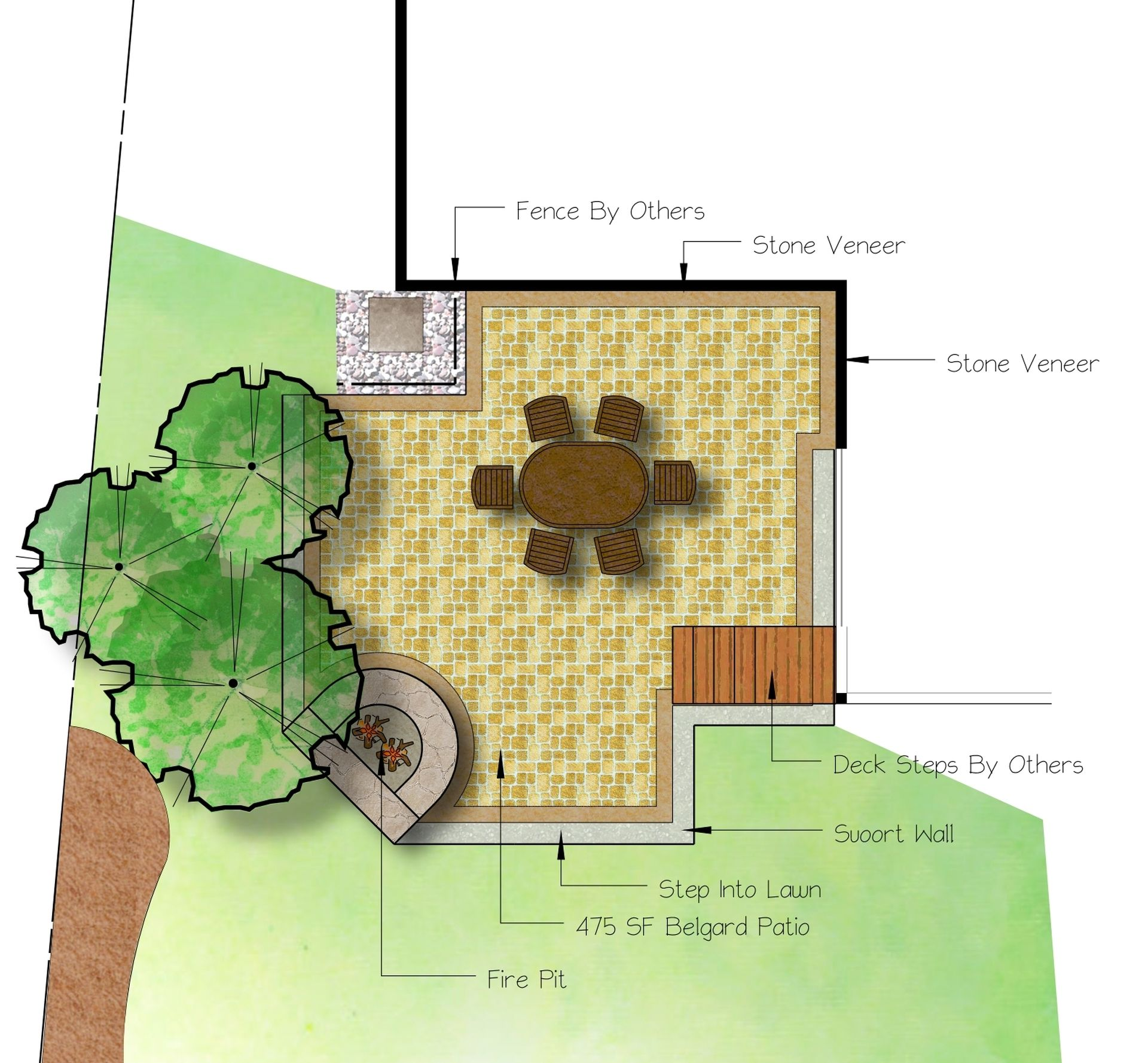 Paver Patio Design With Gas Fire Pit Signature Landscapes And Design