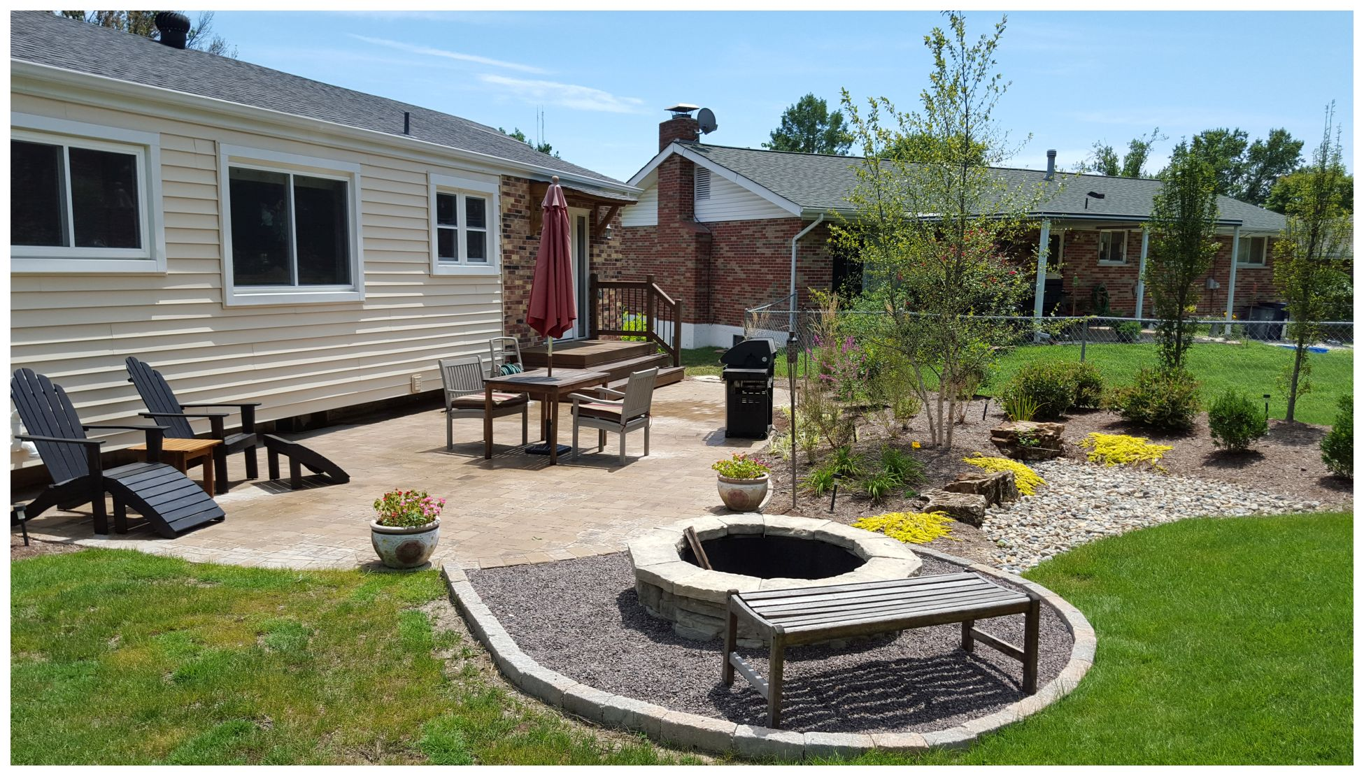 Backyard Paver Patio With Firepit on Pavers Patio With Fire Pit id=66815